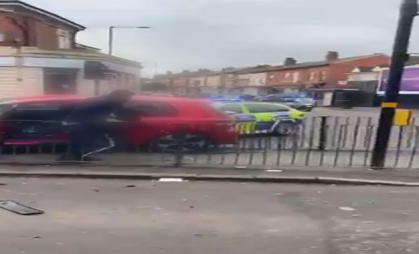 Two arrested for damage to vehicles and failing to stop for police