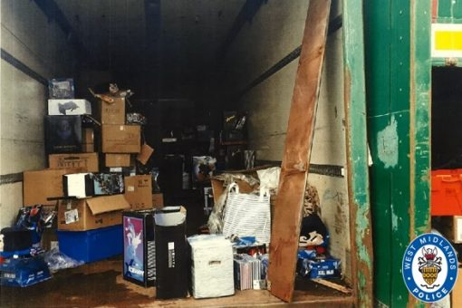 Huge haul of stolen goods recovered by WMP