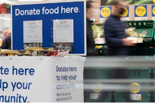 Shoppers can now donate to fight hunger at every large Tesco store in the UK