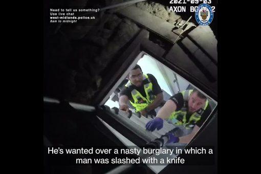 Violent burglar jailed after Police find him hiding in loft